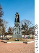 Памятник адмиралу Колчаку около Знаменского монастыря в центре Иркутска, фото № 25925556, снято 27 марта 2017 г. (c) Геннадий Соловьев / Фотобанк Лори