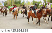 Купить «Horse festival in Gobernador Costa in the province of Chubut. Gobernador Costa, Argentina», видеоролик № 25934888, снято 4 февраля 2017 г. (c) Яков Филимонов / Фотобанк Лори
