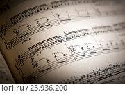 Купить «Open large music book close up», фото № 25936200, снято 8 апреля 2017 г. (c) Александр Калугин / Фотобанк Лори