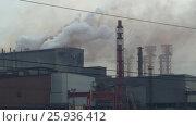 Купить «Emissions of metallurgical and chemical plants», видеоролик № 25936412, снято 21 марта 2017 г. (c) Михаил Коханчиков / Фотобанк Лори