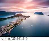 Купить «Lofoten archipelago islands aerial photography.», фото № 25941316, снято 15 июля 2016 г. (c) Андрей Армягов / Фотобанк Лори