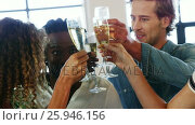 Купить «Group of executives celebrating», видеоролик № 25946156, снято 11 июля 2020 г. (c) Wavebreak Media / Фотобанк Лори