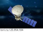 Купить «Composite image of high angle view of3d solar power satellite», иллюстрация № 25954184 (c) Wavebreak Media / Фотобанк Лори