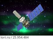 Купить «Composite image of low angle view of3d modern solar satellite», иллюстрация № 25954484 (c) Wavebreak Media / Фотобанк Лори