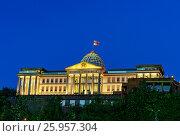 Купить «Presidential Palace of Georgia in Tbilisi at night», фото № 25957304, снято 24 сентября 2016 г. (c) Elena Odareeva / Фотобанк Лори