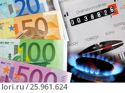 Купить «Costs for gas and electricity», фото № 25961624, снято 3 июля 2020 г. (c) easy Fotostock / Фотобанк Лори