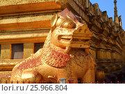 Купить «Golden lion in Shwezigon Pagoda Bagan», фото № 25966804, снято 25 января 2016 г. (c) Михаил Коханчиков / Фотобанк Лори