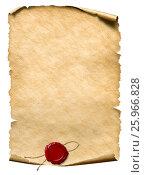 Купить «Parchment with wax seal», фото № 25966828, снято 22 октября 2018 г. (c) Андрей Кузьмин / Фотобанк Лори