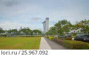 Купить «Walk to Marina Bay Sands motion timelapse», видеоролик № 25967092, снято 18 октября 2018 г. (c) Кирилл Трифонов / Фотобанк Лори