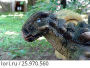 Купить «Анкилозавр. Город Химки. Парк динозавров», фото № 25970560, снято 12 июня 2015 г. (c) Акоп Васильян / Фотобанк Лори