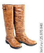 Купить «Female mass production high boot», фото № 25970840, снято 11 сентября 2012 г. (c) Куликов Константин / Фотобанк Лори
