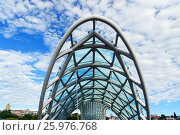 Купить «Bridge of Peace in Tibilisi, Georgia», фото № 25976768, снято 25 сентября 2016 г. (c) Elena Odareeva / Фотобанк Лори