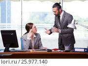 Купить «Woman and man in the business concept», фото № 25977140, снято 25 мая 2016 г. (c) Elnur / Фотобанк Лори