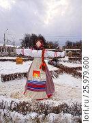 Купить «Кукла масленица на ярмарке в Костроме», фото № 25979600, снято 26 ноября 2016 г. (c) Екатерина Разгуляева / Фотобанк Лори