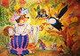 Сорока-белобока и медведь, иллюстрация № 25981744 (c) Светлана Кириллова / Фотобанк Лори