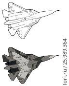 Купить «Modern Russian jet fighter aircraft», иллюстрация № 25989364 (c) Илья Малов / Фотобанк Лори