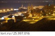 Ночной Нижний Новгород (2017 год). Стоковое фото, фотограф Юрий Леденцов / Фотобанк Лори