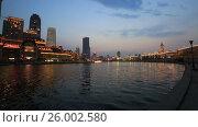 Купить «The evening Tianjin, the Haihe river. China», видеоролик № 26002580, снято 12 апреля 2017 г. (c) Яна Королёва / Фотобанк Лори