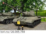 Купить «Советский тяжелый танк ИС-1», фото № 26005744, снято 11 мая 2016 г. (c) Виктор Бондаренко / Фотобанк Лори
