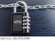 Купить «The concept of an encrypted Internet connection», фото № 26010044, снято 17 апреля 2017 г. (c) Александр Якимов / Фотобанк Лори