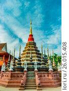 Купить «Buddhist temple Chiang Mai, Thailand», фото № 26015408, снято 8 февраля 2015 г. (c) Роман Гадицкий / Фотобанк Лори