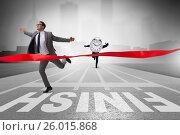 Купить «Businessman failing to meet the challenging deadlines», фото № 26015868, снято 23 июля 2019 г. (c) Elnur / Фотобанк Лори