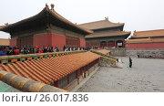 Купить «Beijing. The Palace Museum, Forbidden city», видеоролик № 26017836, снято 3 апреля 2017 г. (c) Яна Королёва / Фотобанк Лори