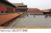 Купить «Пекин. Запретный город», видеоролик № 26017840, снято 3 апреля 2017 г. (c) Яна Королёва / Фотобанк Лори