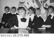Купить «Дети на игровом уроке в первом классе. 1969 год.», эксклюзивное фото № 26019488, снято 19 апреля 2017 г. (c) Светлана Попова / Фотобанк Лори