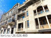 Традиционные дома в Старом городе Баку. Азербайджан, фото № 26026460, снято 23 сентября 2016 г. (c) Евгений Ткачёв / Фотобанк Лори