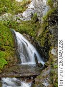 Водопад Чоодор, западный берег Телецкого озера. Стоковое фото, фотограф Круглов Олег / Фотобанк Лори