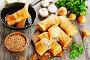 Блины с гречкой и грибами. Вегетарианское блюдо, фото № 26051428, снято 10 апреля 2017 г. (c) Надежда Мишкова / Фотобанк Лори
