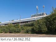 Здание бывшего речного вокзала в городе Котласе Архангельской области, фото № 26062352, снято 12 августа 2016 г. (c) Николай Мухорин / Фотобанк Лори