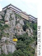 Купить «MONTSERRAT, SPAIN - AUGUST 28, 2012: Benedictine abbey Santa Maria de Montserrat in Monistrol de Montserrat, Spain», фото № 26063148, снято 28 августа 2012 г. (c) Шилер Анастасия / Фотобанк Лори