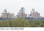 Новые жилые дома 76-го квартала Хорошёво-Мнёвников в Москве (2010 год). Редакционное фото, фотограф Алёшина Оксана / Фотобанк Лори