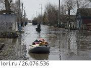 Паводок в деревне (2017 год). Редакционное фото, фотограф Мударисов Вадим / Фотобанк Лори