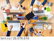 Купить «Interacting as team for better results», фото № 26076616, снято 20 сентября 2016 г. (c) Sergey Nivens / Фотобанк Лори