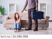 Купить «Young family in broken relationship concept», фото № 26086988, снято 20 декабря 2016 г. (c) Elnur / Фотобанк Лори