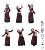 Купить «Young lady dancing traditional azeri dance», фото № 26087460, снято 28 февраля 2013 г. (c) Elnur / Фотобанк Лори