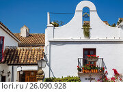 White village of Benahavis. Malaga province Costa del Sol. Andalusia Southern Spain, Europe. Стоковое фото, фотограф Jerónimo Alba / age Fotostock / Фотобанк Лори