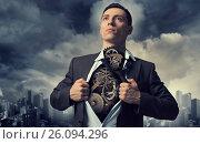 Купить «He is super and powerful», фото № 26094296, снято 12 марта 2014 г. (c) Sergey Nivens / Фотобанк Лори