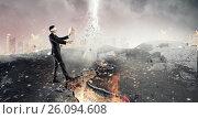 Купить «Overcome fear of failure . Mixed media», фото № 26094608, снято 28 июня 2013 г. (c) Sergey Nivens / Фотобанк Лори