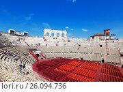 Купить «Арена ди Верона - античный римский амфитеатр в Вероне, Италия», фото № 26094736, снято 21 апреля 2017 г. (c) Наталья Волкова / Фотобанк Лори