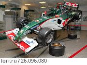 Болид Формулы-1 Jaguar R5B 2004 года пилота Марка Уэббера. Музей спортивных и классических автомобилей в Адлере. Краснодарский край, Россия, фото № 26096080, снято 5 апреля 2017 г. (c) Александр Степанов / Фотобанк Лори
