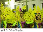 Купить «Spanish Carnival in night. Sitges, Catalonia», фото № 26096260, снято 10 февраля 2016 г. (c) Яков Филимонов / Фотобанк Лори