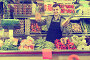 Guy shop assistant is displaying assortment, фото № 26096492, снято 18 марта 2017 г. (c) Яков Филимонов / Фотобанк Лори