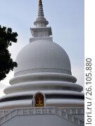 Фрагмент Японской пагоды мира, Унаватуна, Шри-Ланка (2015 год). Стоковое фото, фотограф Дарья Арифуллина / Фотобанк Лори