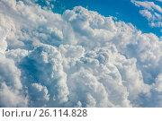 Купить «Dense clouds seen from above», фото № 26114828, снято 19 сентября 2018 г. (c) easy Fotostock / Фотобанк Лори