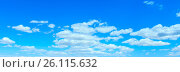 Купить «Blue sky background with clouds», фото № 26115632, снято 29 мая 2016 г. (c) Юрий Брыкайло / Фотобанк Лори