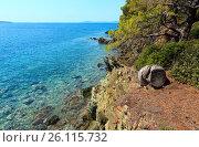 Купить «Morning Aegean coast, Sithonia, Greece.», фото № 26115732, снято 24 июля 2016 г. (c) Юрий Брыкайло / Фотобанк Лори